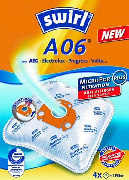 4 Microfaser Staubsaugerbeutel - Swirl - A 06
