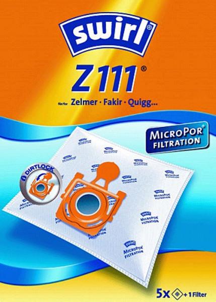 5 Microfaser Staubsaugerbeutel - Swirl - Z 111