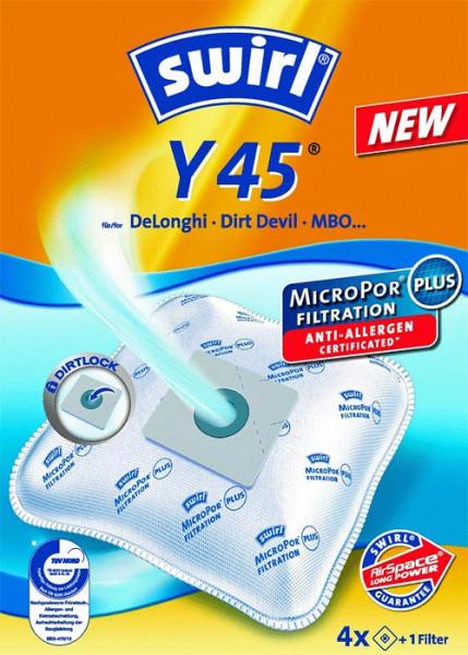 4 Microfaser Staubsaugerbeutel - Swirl - Y 45