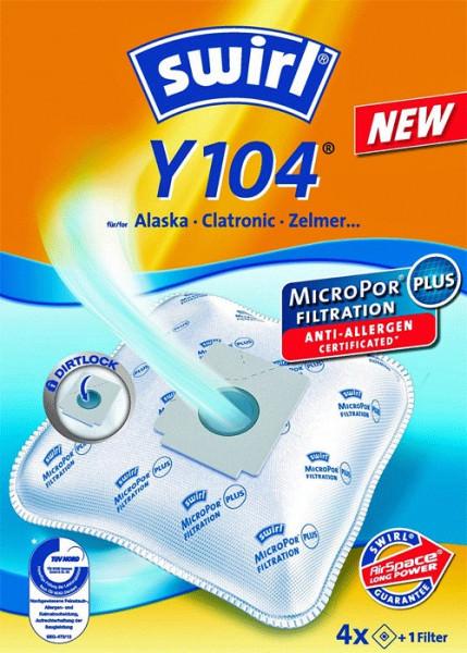 4 Microfaser Staubsaugerbeutel - Swirl - Y 104