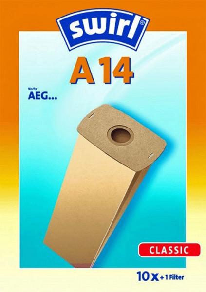10 Papier Staubsaugerbeutel - Swirl - A 14