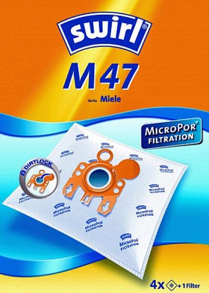 4 Microfaser Staubsaugerbeutel - Swirl - M 47