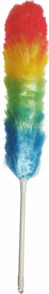 1 Kunststofffaser - Staubwedel mit Kunststoffgriff und Aufhängeöse in Folie