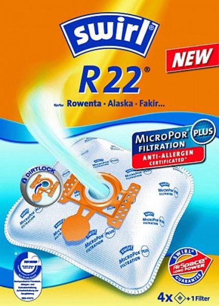 4 Microfaser Staubsaugerbeutel - Swirl - R 22