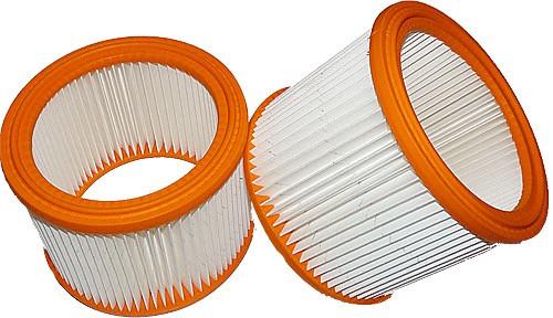 2 Lamellen - Faltenfilter - Filtrak - R 635/2 Absolut-Filter - auswaschbar passend für Nilfisk - Alt