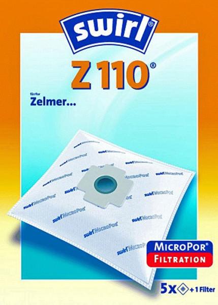 5 Microfaser Staubsaugerbeutel - Swirl - Z 110