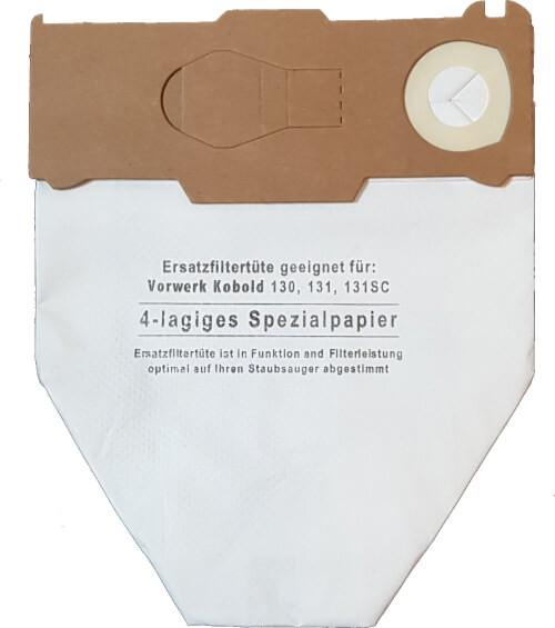 5 Spezial-Papier Staubsaugerbeutel - SAUGAUF - VS 130