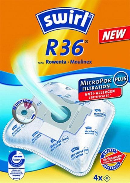 4 Microfaser Staubsaugerbeutel - Swirl - R 36