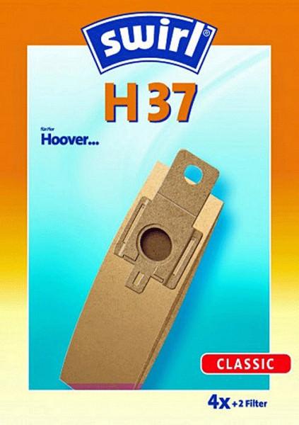 4 Papier Staubsaugerbeutel - Swirl - H 37