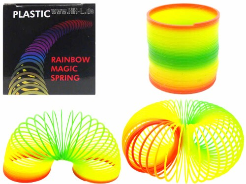 Magic Spring Spirale, Regenbogenfarben in bunter Faltschachtel
