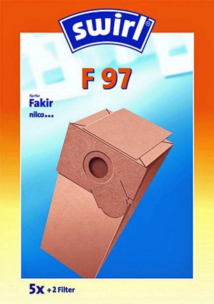 5 Papier Staubsaugerbeutel - Swirl - F 97