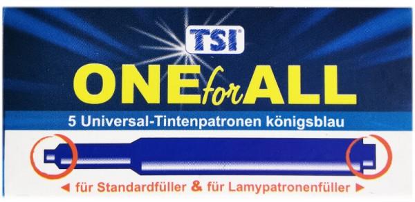 5 Tintenpatronen Universal 5er Pack königsblau