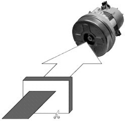 5 Papier Staubsaugerbeutel - FilterClean - Motorschutzfilter MF 2