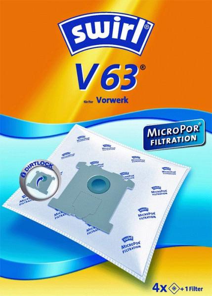 4 Microfaser Staubsaugerbeutel - Swirl - V 63