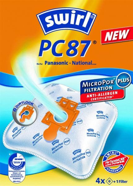 4 Microfaser Staubsaugerbeutel - Swirl - PC 87