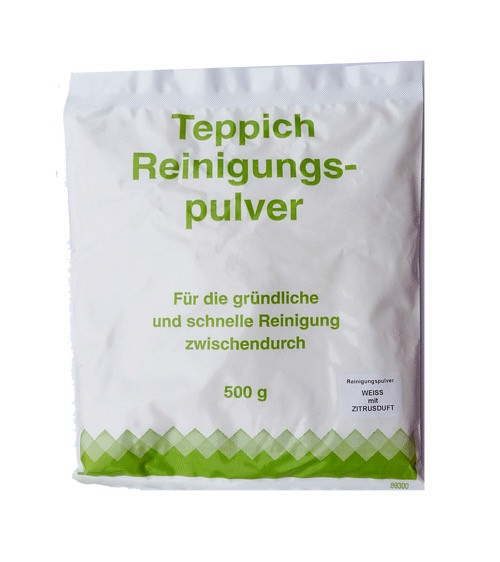 1 Stück - Teppich-Reinigungspulver, weiss mit Zitronenduft