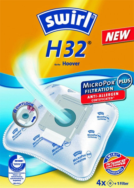 4 Microfaser Staubsaugerbeutel - Swirl - H 32